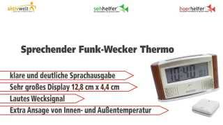 Produktvideo zu Sprechender Funk-Wecker Thermo