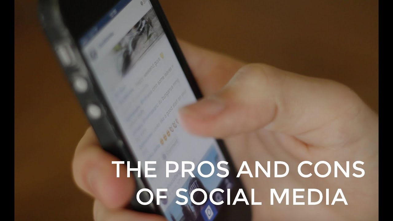 pros cons media A short animation for english the disadvantages and the benefits to using social media music by: david cutter music -   thank you to.