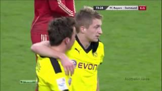 Гётце видео гол  Бавария   Боруссия Дортмунд  Чемпионат Германии по футболу 15(, 2014-09-29T08:06:12.000Z)