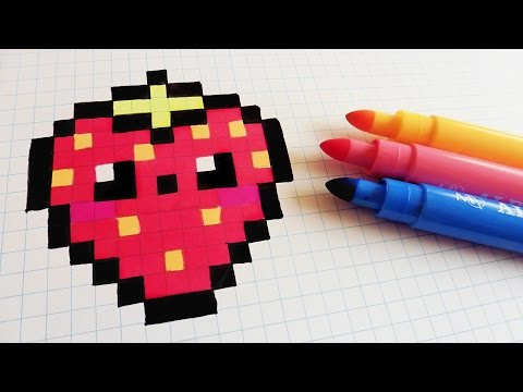Handmade Pixel Art How To Draw Kawaii Strawberry Pixelart