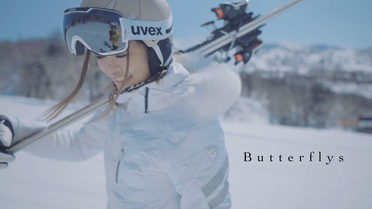 【Butterflys】日本の女性スキーヤーを美しく撮る動画|Beautiful skiing for Japanese women