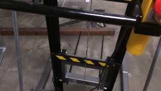 Home made 2 meter light weight lifting forklift hoist PART 2