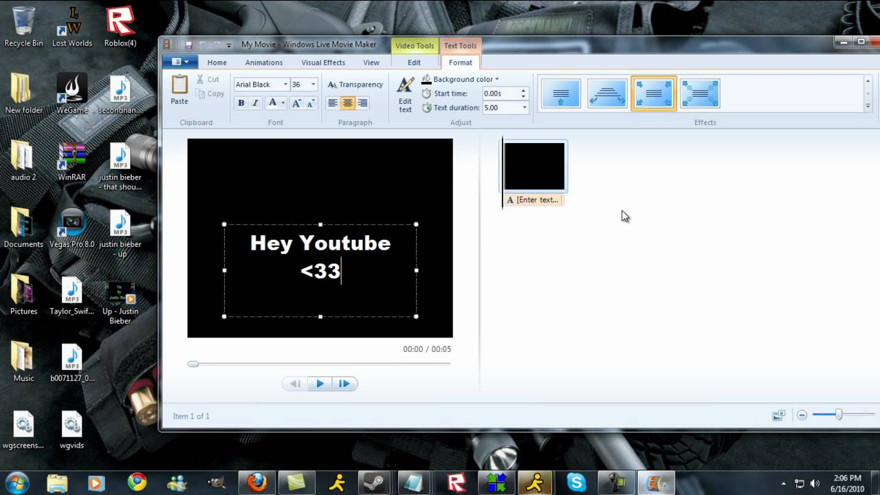 how to make music videos on windows movie maker