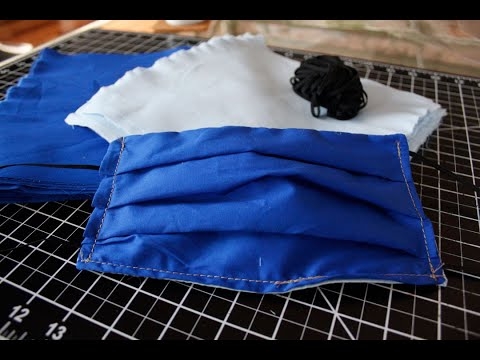 DIY Make a Basic Surgical Face Mask with Elastic