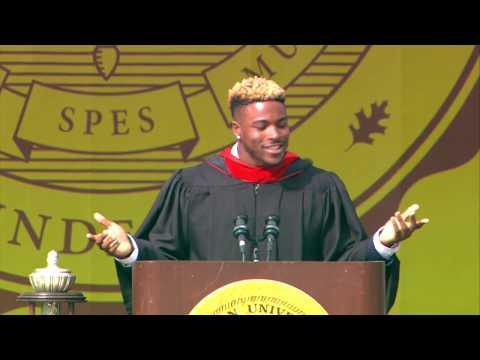 Philadelphia Eagles Corey Clement delivers 2018 Rowan University Commencement Address