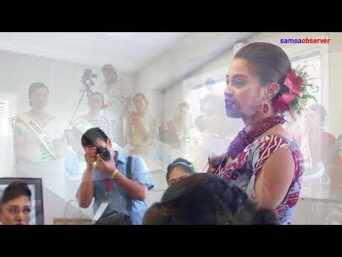 Miss Samoa contestants visit Ford, Samoa Observer
