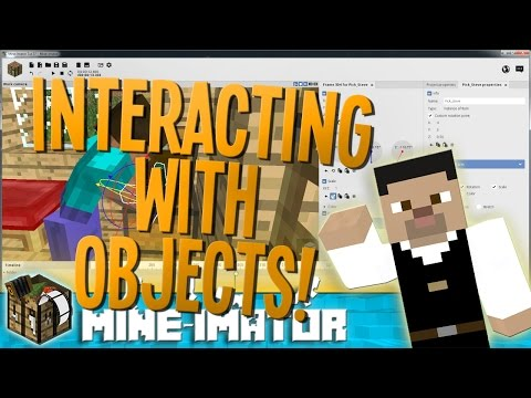 Interacting with Objects in Mine-imator! - Mine-imator Tutorial | 3