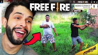 MUITO ENGRAÇADO!!! ELES FIZERAM O FREE FIRE DA VIDA REAL NO BRASIL!