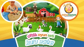 Çiftlik Oyun Seti Ile Hayvanları öğreniyoruz Mina Hanım Bırakmadı Eğlenceli çocuk Videosu