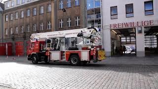 Ausfahrt zu einer Brandmeldeanlage am Lehrlingswohnheim in Neuruppin