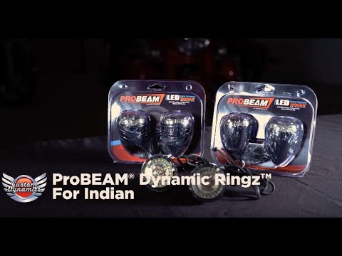 ProBEAM® Amber/White Dynamic Ringz™ LED Turn Signals for Indian® Motorcycles