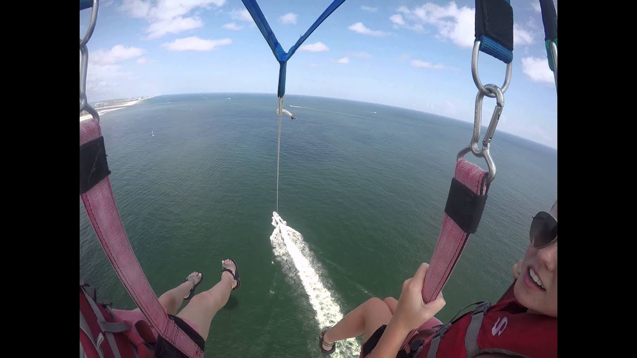 Hannah And Carrie Beth Parasailing Blue Reef Water Sports Orange Beach Al