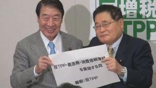 亀井氏が新党結成 「反TPP」党 山田元農相も参加