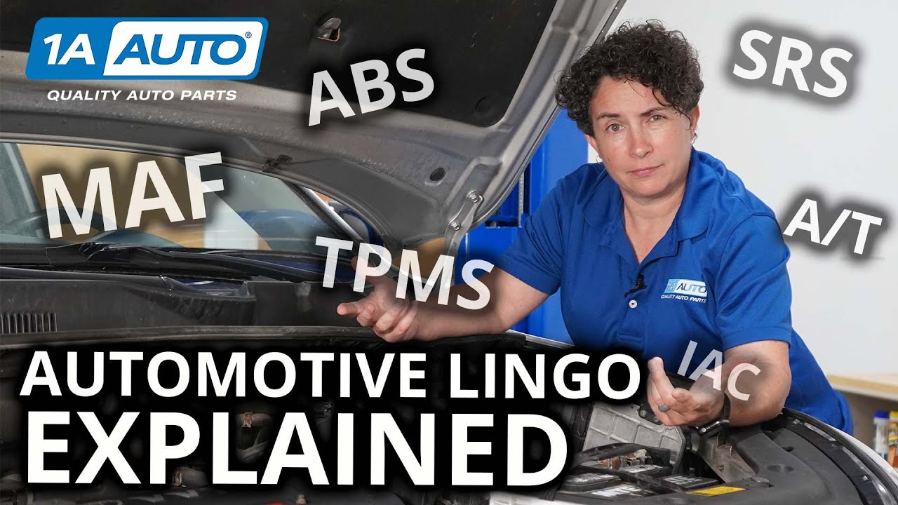 Do You Know Automotive Lingo? Common Acronyms Explained: MAF ABS TPMS SRS IAC