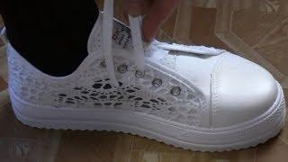 Летняя женская обувь. Кружево