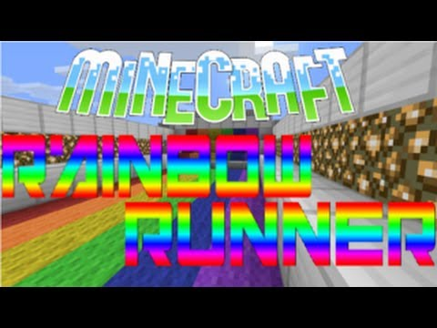 how to make rainbow runner on minecraft console