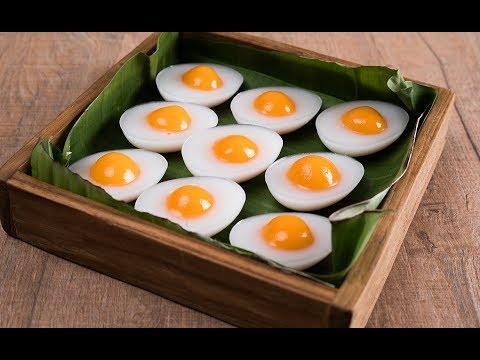 เมนูวุ้นลูกชุบไข่เค็ม Salted Egg Mung Bean Marzipan on Coconut Jelly - วันที่ 10 Sep 2019