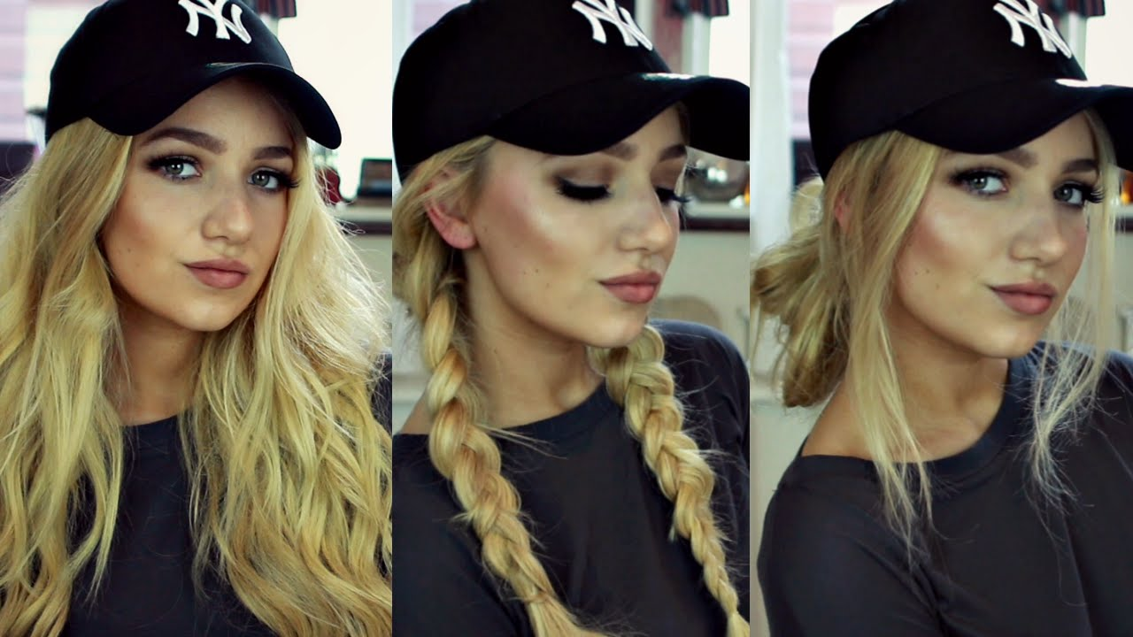 instagram 'baddie' hair tutorial // 3 baseball cap hairstyles