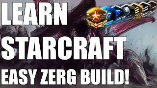 Learn Starcraft - Zerg Beginner Build Guide & Gameplan! [2018]