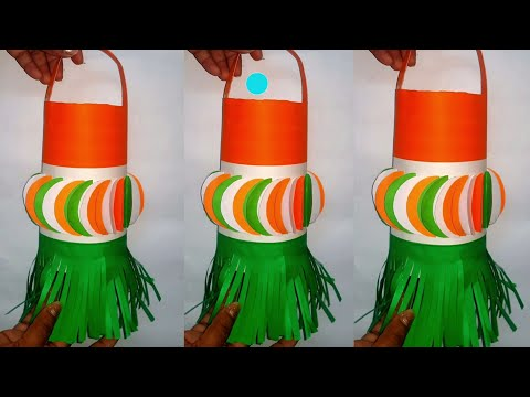 Tricolor paper crafts   Independence day craft  republicday craft