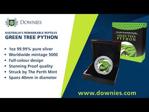 New at Downies: the 2018 $1 Green Tree Python 1oz Silver Proof