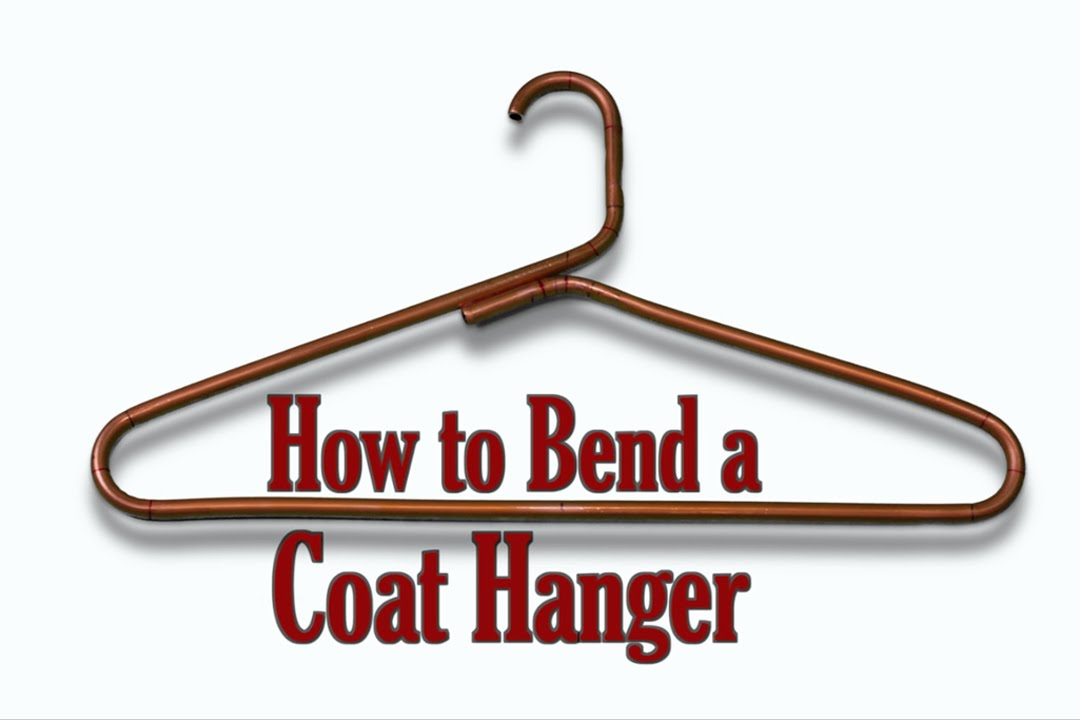 How to Bend a Coat Hanger - YouTube