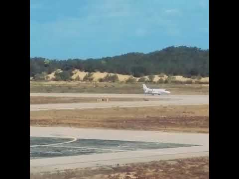 Algerian private jet landing on international tabarka's airport