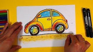 Как нарисовать МАШИНУ ЖУК / Урок рисования для детей от РыбаКит