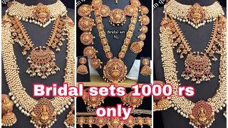 Bridal & Temple Jewellery for RENT & SALE @ SOWCARPET | Rs.1000/- Onwards