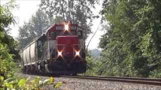CF&E LIVW TP&W 4056 GP40X in American Twp 4023 Ex BN GP40 in Middle Point Ohio