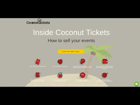 How to sell event tickets online using Coconut Tickets
