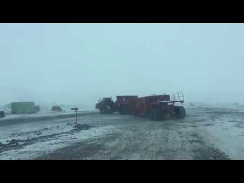 Kress articulating personnel carrier on road between McMurdo and Scott Base