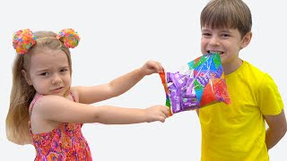Bogdan si Anabella vor aceleasi bomboane Istorioara amuzanta pentru copii