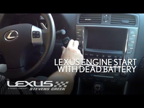 Lexus Engine Start With Dead Key Battery Youtube