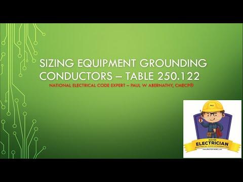 Sizing Equipment Grounding Conductors (EGC) - Table 250.122 Basics
