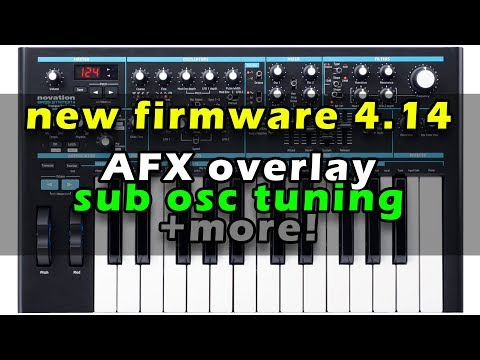Novation Bass Station 2 Firmware 4.14 - WOW! AFX mode !!