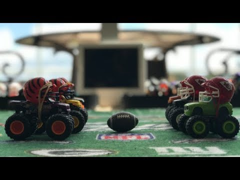 MONSTER TRUCK FOOTBALL GAME... PANTHERS VS. 49ers | Doovi