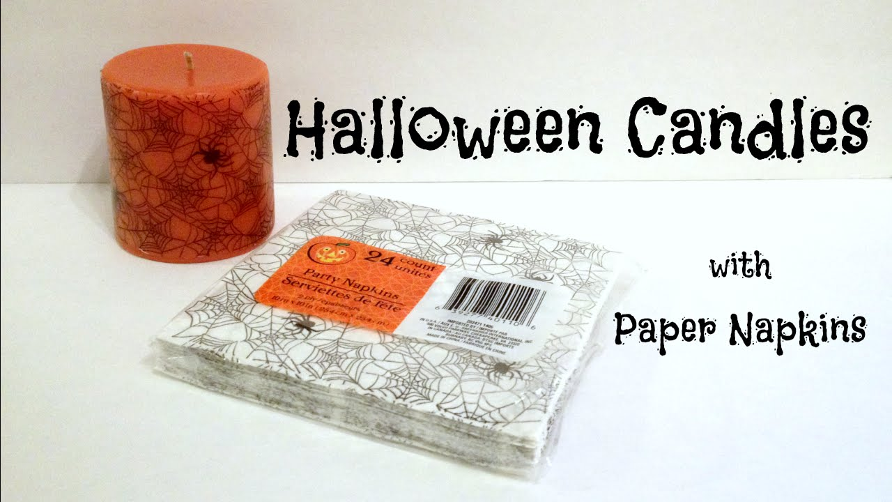 DIY TutorialHow to decorate candles with paper napkins DIY