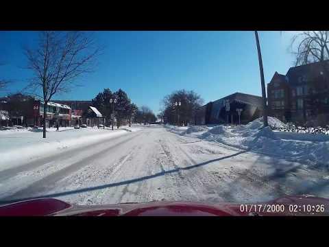 Winter Driving East Lansing Michigan HD