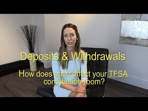 Deposits & Withdrawals to your Tax Free Savings Account (TFSA's)