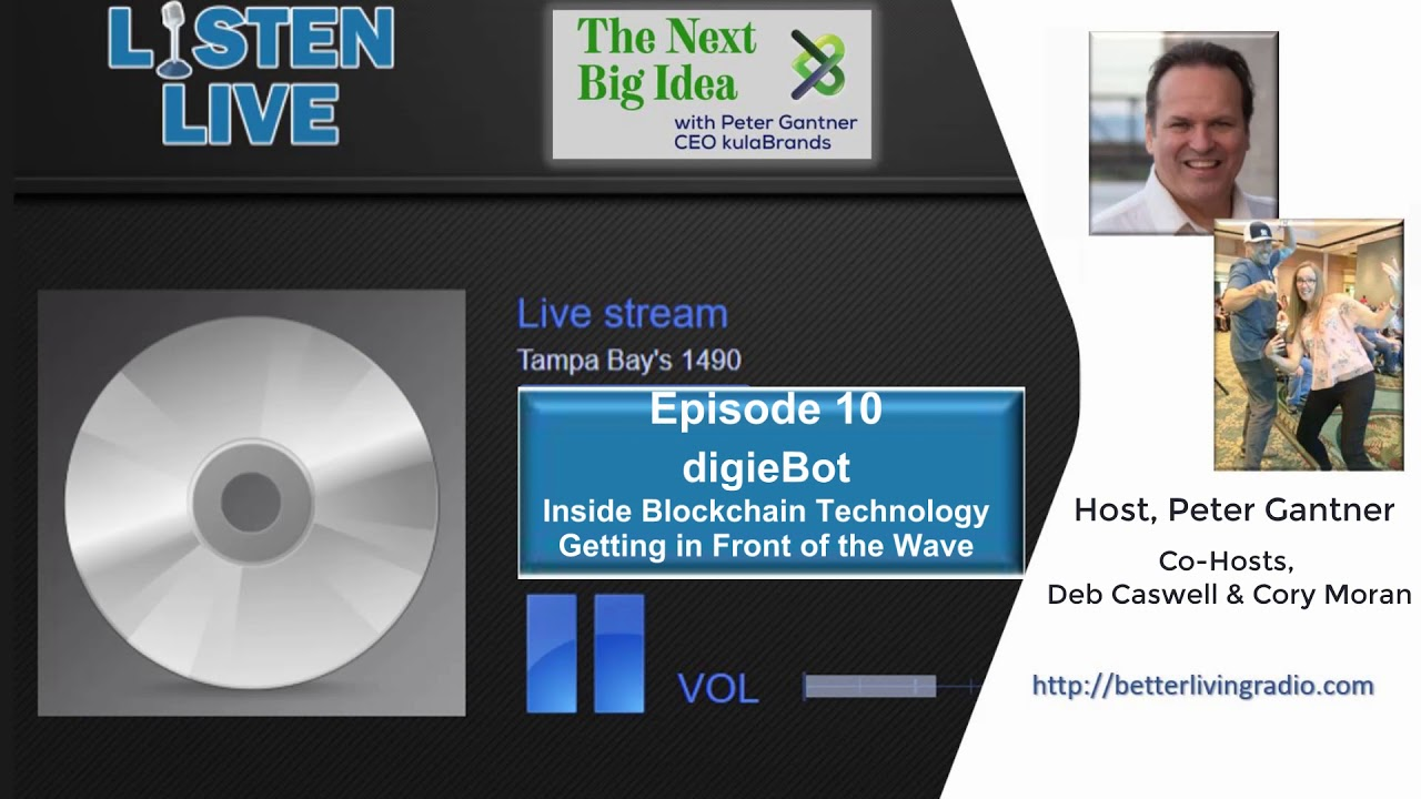 The Next Big Idea Radio Show | Episode 10 | Blockchain Technology and Value of digieBot