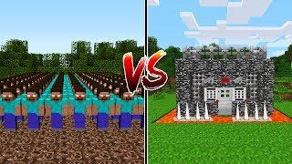 1000 HEROBRİNE VS DÜNYANIN EN GÜVENLİ EVİ - Minecraft