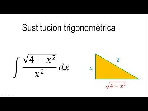 Integrales por sustitución trigonométrica | Ejemplo 2