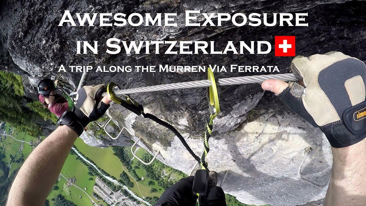 Klettersteig Lauterbrunnen : Awesome exposure murren gimmelwald klettersteig via ferrata