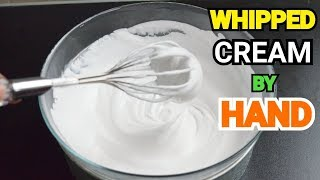 HOW TO WHIP CREAM WITHOUT ELECTRIC MIXER  Whipping Cream Banany Ka Tareka by YES I CAN COOK