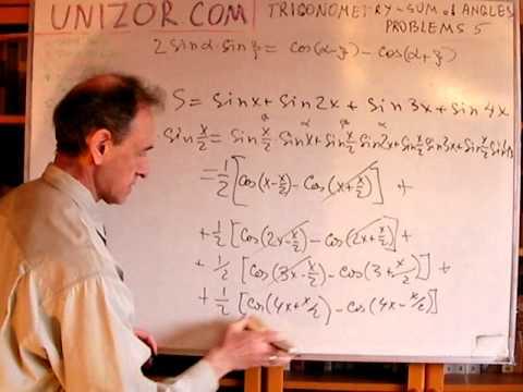 Unizor - Trigonometry - Sum of Angles Problems 5 - Misc Identities