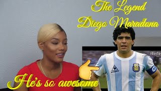 Clueless new American football Fan Reacts to Football fan reacts to Diego Maradona