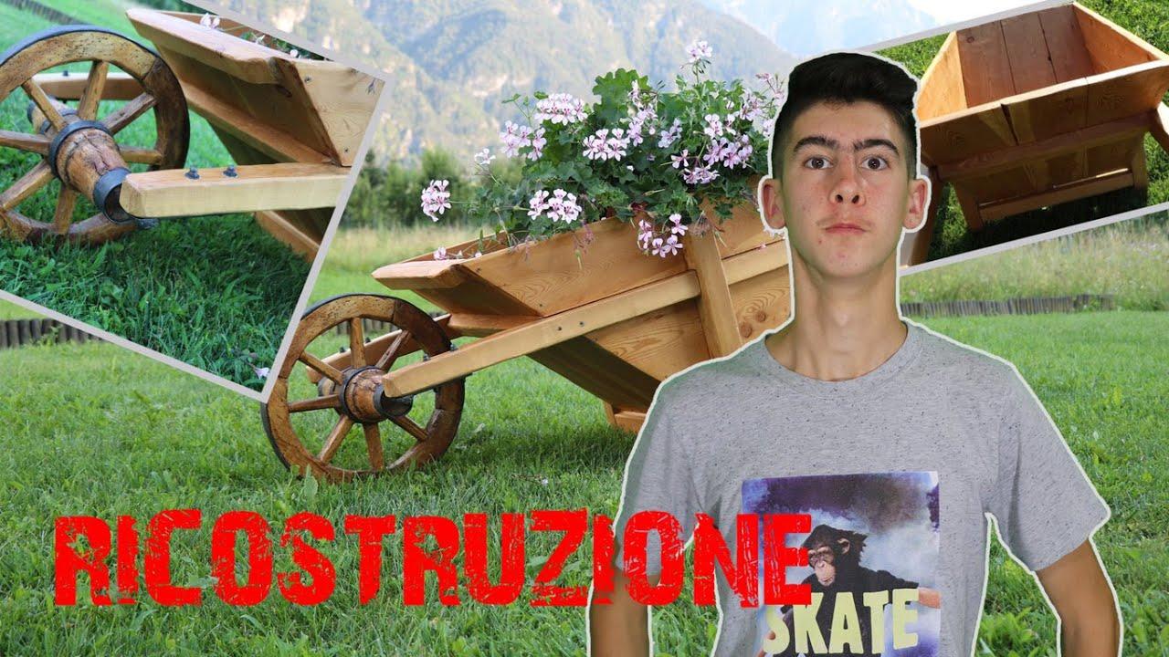 Ricostruzione carriola antica in legno fai da te youtube - Carriola in legno da giardino ...