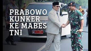 Prabowo ke Mabes TNI Dengan Mobil Pribadi