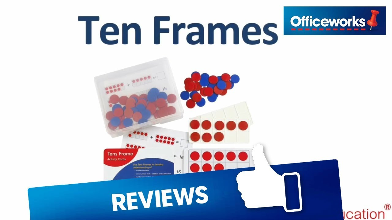 EDX Education Ten Frames Activity Set - YouTube